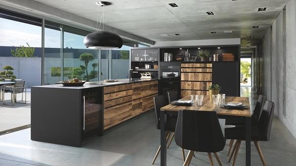 Cuisine noire et bois moderne Schmidt