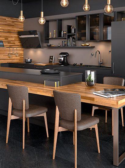 cuisine noire bois