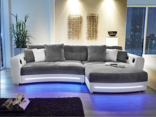 canapé design avec éclairage