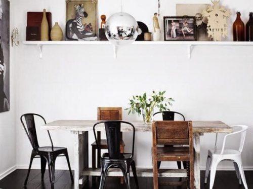 chaises dépareillées style différents