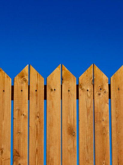 palissade en bois dans le jardin